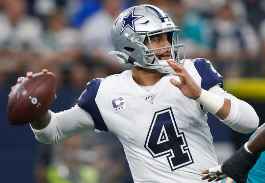 Dak Prescott has 920 yards and nine touchdowns passing through three games.