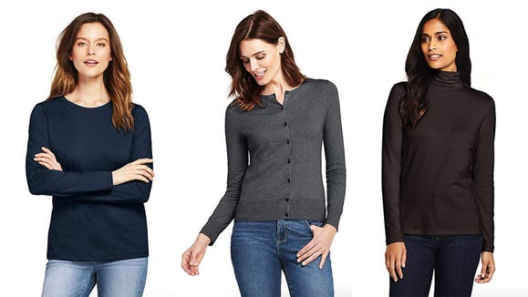 Save up to 50% off on Lands' End apparel for today only.