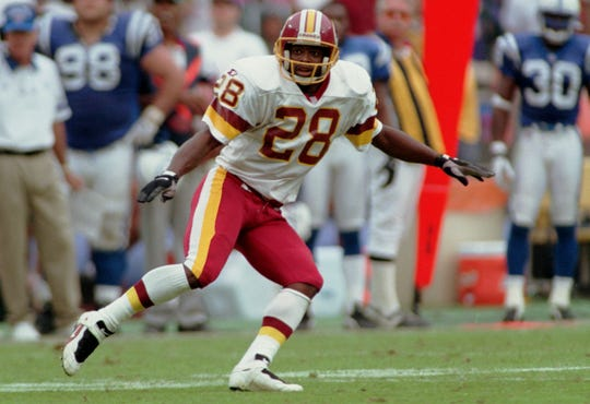 Darrell Green played his entire career with the Washington Redskins, winning two Super Bowls.
