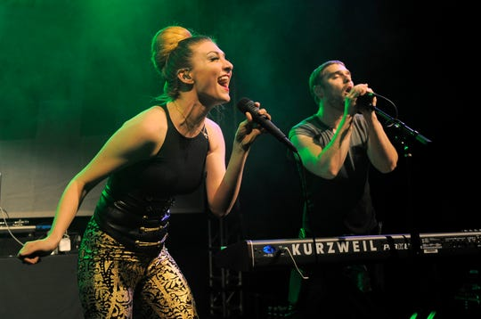 Married duo Amy Noonan, left, and Nick Noonan of Karmin, pictured in 2012.