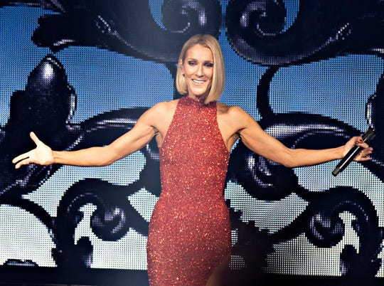Celine Dion performs during her first World Tour show called Courage at the Videotron Centre, Wednesday, Sept. 18, 2019, in Quebec City, Canada.