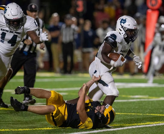 Mater Dei running back Malik Ingram ran for 310 yards and four touchdowns in the No. 1 Seraphs' 35-0 win over St. John Vianney this past Friday night.
