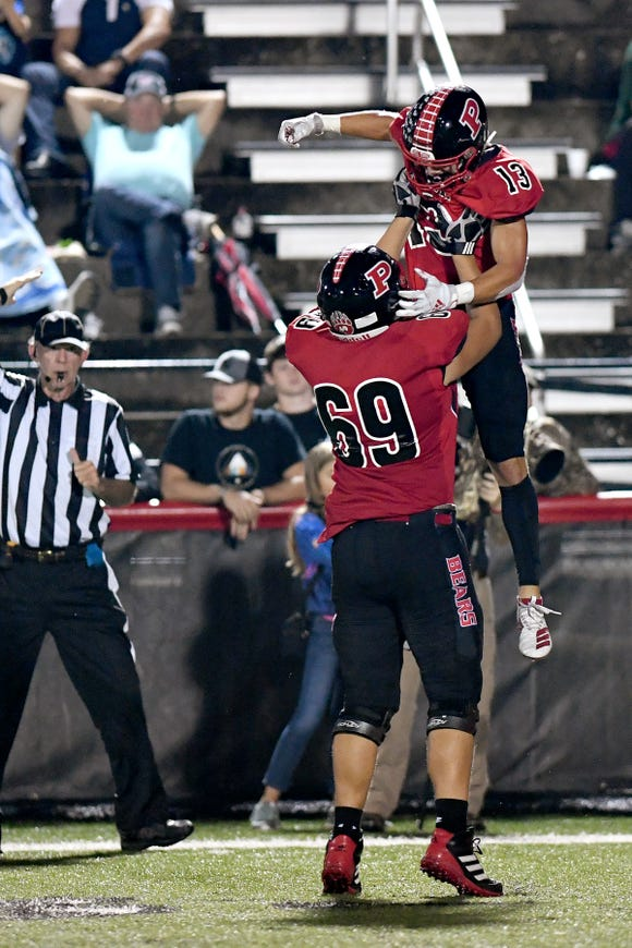 Pisgah defeated Mountain Heritage 9-0 in their game at Memorial Stadium in Canton on Sept. 27, 2019.