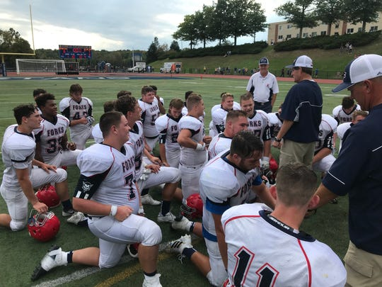 Chenango Forks breaks it down after Saturday's 7-6 win at Maine-Endwell.