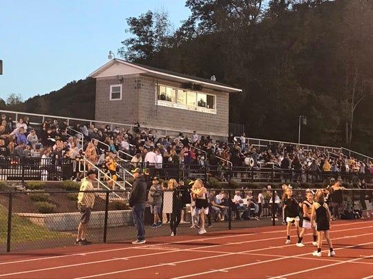 Fans at Windsor await the football game against Harpursville/Afton on Sept. 27.