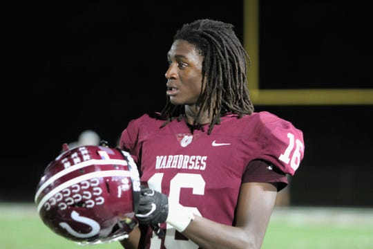 Owen senior wide receiver Geordan Haggins hauled in 3 receptions for 145 yards and 2 touchdowns against Franklin on Sept. 27. The Warhorses improved to 3-2 on the season with the 44-7 victory over the Panthers.