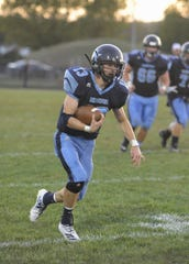 Adena running back Nate Throckmorton runs the ball during a 28-21 win over Unioto on Friday, September 27, 2019 in Frankfort, Ohio.