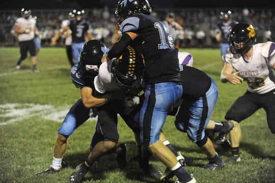 Adena High School football defeated Unioto 28-21 on Friday, September 27, 2019 in Frankfort, Ohio.