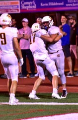 The Turpin celebration is on as the Spartans remain undefeated on the season, Sept. 27, 2019.