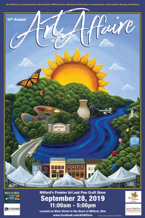 This year's winning Art Affaire poster was painted by Kate Albert of Miami Township.