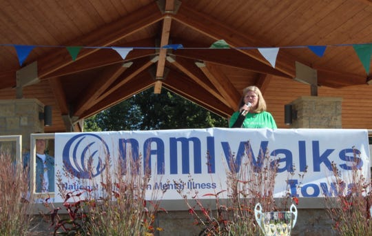 Connie Grunder, the NAMIWalk keynote speaker, joined NAMI to learn more about her son's bipolar disorder before he died by suicide in 2017. Now she hopes to end the stigma surrounding mental illness.