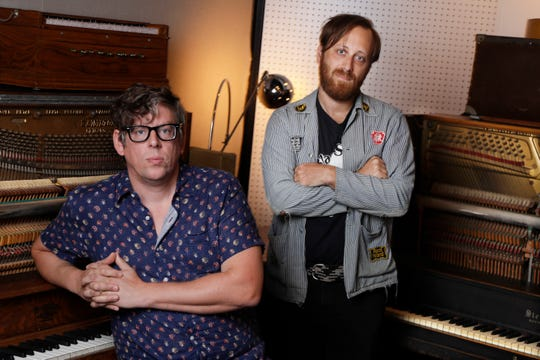 Patrick Carney, left, and Dan Auerbach of the Black Keys. They make up one of just a handful of 21st-century rock bands to rise to arena-headlining status.