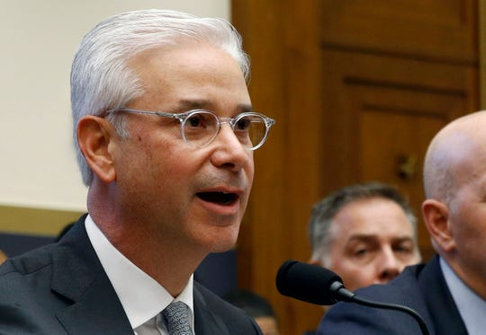 FILE - Wells Fargo is naming Scharf to lead the bank which has been plagued by scandal in recent years.  The San Francisco bank said Friday, Sept. 27, that Scharf will take over for C. Allen Parker, who has led Wells Fargo since March when its second CEO stepped down.