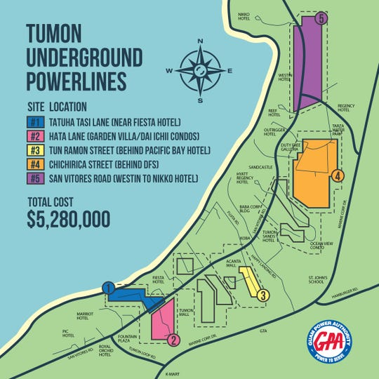 Tumon underground power project.