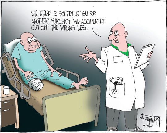 Sunday cartoon on medical malpractice