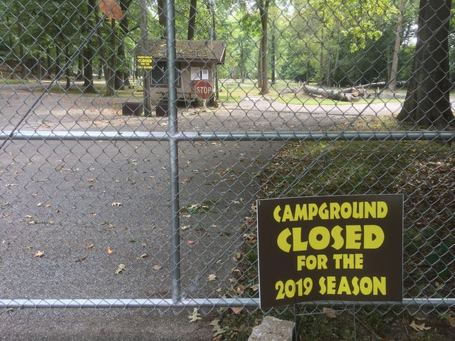 The sign is clear at the Audubon State Park campground.