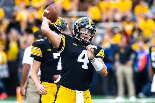 Nate Stanley is the leading passer in the Big Ten Conference, with 1,950 yards this season. The senior has thrown for 7,301 yards and 62 touchdowns in his Hawkeye career.