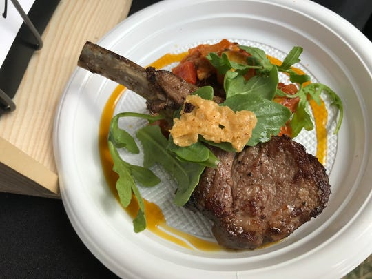 Lamb chops over ratatouille were one of the most popular dishes at the 2019 IndyStar Wine & Food Experience Sept. 28  at Clay Terrace in Carmel.