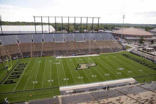 Ross-Ade Stadium prior to an NCAA football game between the Purdue Boilermakers and the Minnesota Gophers, Saturday, Sept. 28, 2019 in West Lafayette.