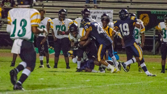 The Carencro defense had a school-record 11 sacks Friday against Washington-Marion.