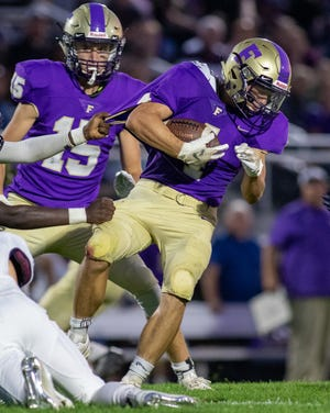 Kaleb Chappell scored two touchdowns for Fowlerville in a 21-6 victory at Lansing Eastern.