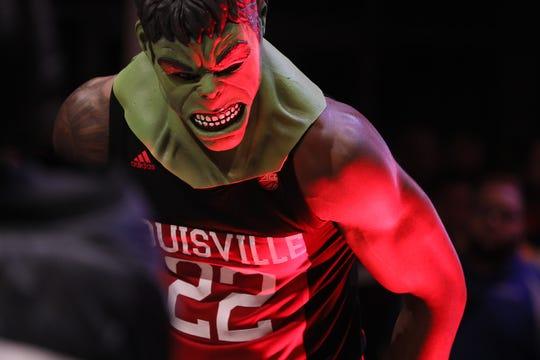 Aidan Igiehon, wearing a Hulk mask