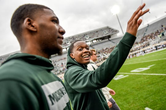 How much could Cassius Winston, right, and Aaron Henry earn off their name, image and likeness if they were able to at MSU?