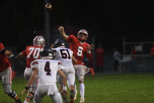 Shelby's McGwire Albert lit up the Harding defense last week. Can his arm help the Whippets beat Galion and keep a lead in the MOAC race?