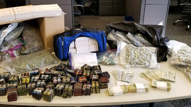 A Sept. 25 raid at a Genoa City home yielded THC cartridges, THC edibles, THC wax, hashish, marijuana and cash.