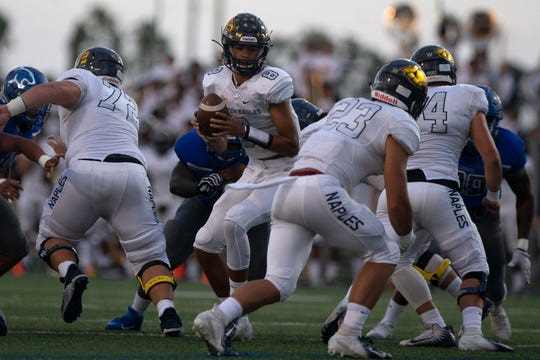 Barron Collier football game against Naples High School, Friday, Sept. 27, 2019, at Barron Collier High School..