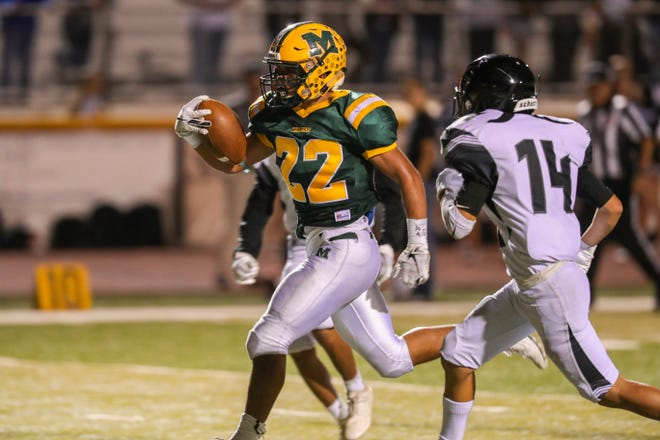 Mayfield senior running back Matthew Riley is the Las Cruces Sun-News Prep Football Hero of Week 10.