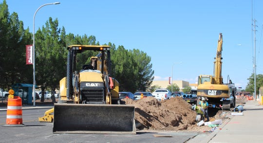 Three sudden water main breaks on E. University Avenue, and then more than 1,300 feet of water pipe is being replaced from Knox Drive west to a few hundred feet west of El Paseo Road.