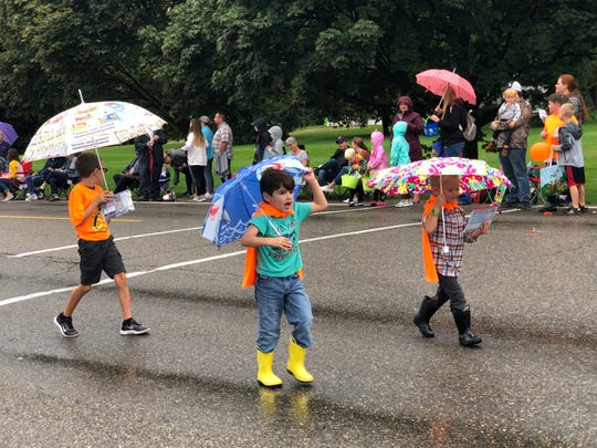 South Lyon Pumpkinfest Parade got a little wet on Sept. 28, 2019.