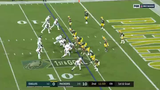 Carson Wentz sees his first read (running back Miles Sanders) covered, picks up Alshon Jeffery as his second read and throws a dart for a touchdown.