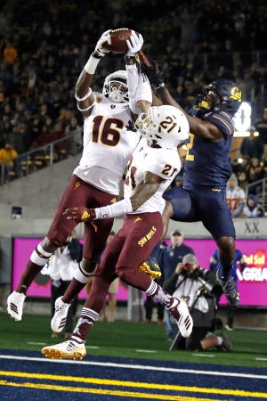 """""""Hopefully we'll have some opportunities because we know (Washington State is) going to have the ball in the air,"""" ASU safety Aashari Crosswell said."""