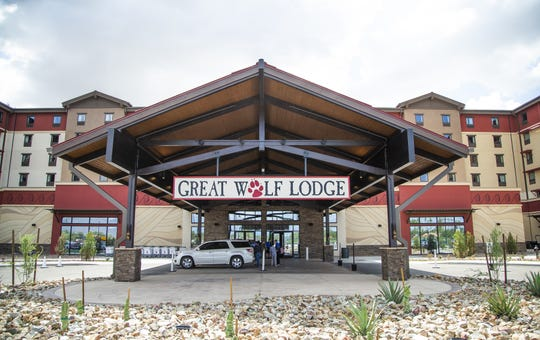 The front of a Great Wolf Lodge in Scottsdale, Arizona that opened in 2019. The resort company is considering Jackson for a new location.