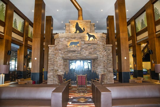 The Great Wolf Lodge opened for business in Scottsdale, Friday, Sept. 27, 2019. It is the 18th Great Wolf Lodge indoor water park resort in North America and its first location in the Southwest. It is also the first indoor water park resort in Arizona. This is the main lobby.