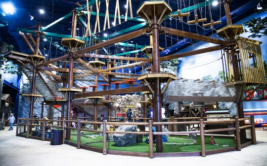 The ropes course at the Great Wolf Lodge in Scottsdale, Arizona.