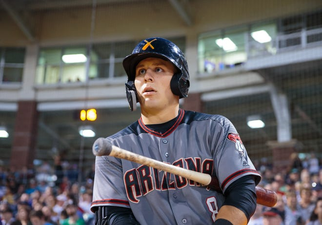 Diamondbacks prospect Daulton Varsho on Friday was named the Diamondbacks' minor league player of the year. He hit .301/.378/.520 in 396 at-bats, leading the Southern League in OPS.