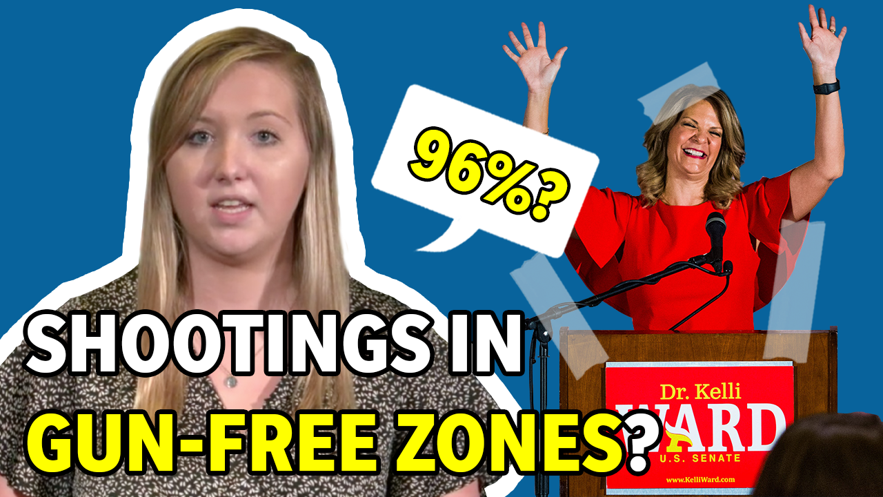 Arizona GOP Chairwoman Kelli Ward claims more mass shootings happen in gun free zones. Is she right?