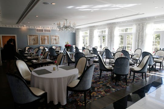 The dining room for the Willow restaurant at  Mirbeau Inn & Spa in Rhinebeck on September 27, 2019.