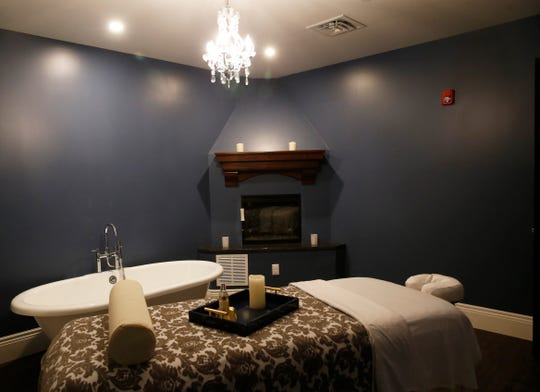 The couple's treatment room at Mirbeau Spa in Rhinebeck on September 27, 2019.
