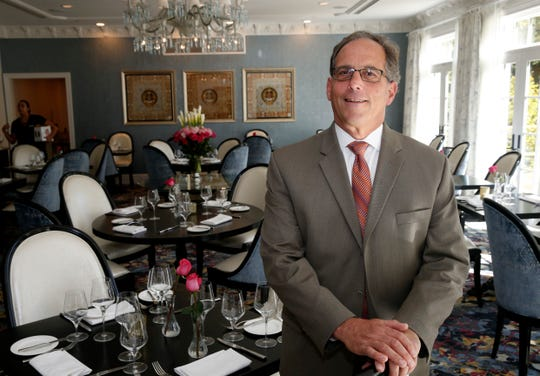 General manager Edward Kellogg inside the Willow restaurant's dining room at Mirbeau Inn & Spa in Rhinebeck on September 27, 2019.