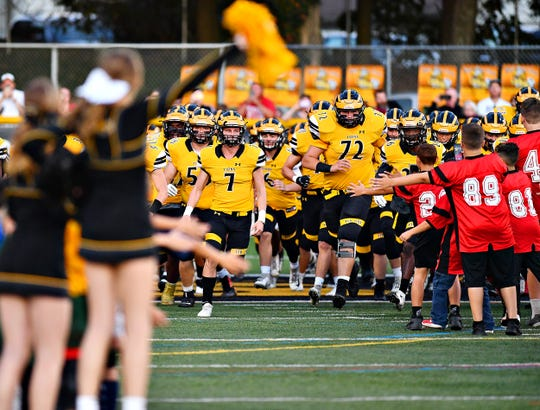 Red Lion vs Northeastern during football action on Horn Field in Red Lion, Friday, Sept. 27, 2019. Red Lion would win the game 41-28. Dawn J. Sagert photo