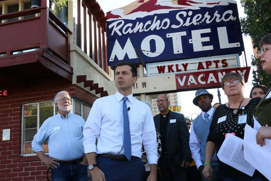 Mayor of South Bend, Indiana and candidate for president Pete Buttigieg campaigns in Reno on Sept. 28, 2019.