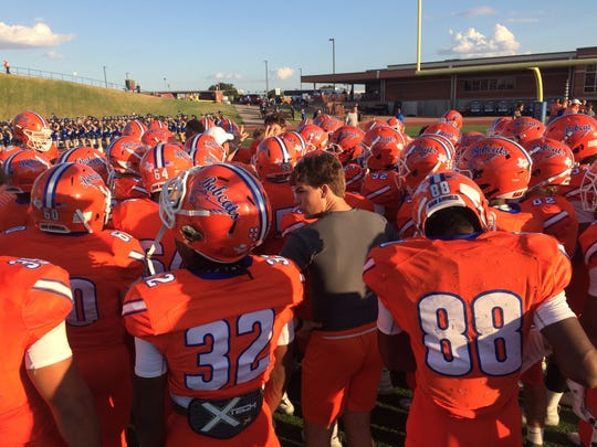 The San Angelo Central Bobcats prepare to play the Weatherford Kangaroos on Friday, Sept. 27, 2019, at San Angelo Stadium.