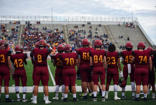 Sioux Falls Roosevelt plays Harrisburg for their homecoming football game on Friday, September 27, at Howard Wood Field in Sioux Falls.