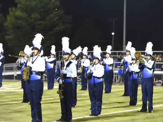 Staunton High School's new band uniforms.