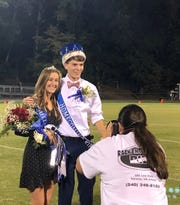 Jillian Hammon and Jona Fike were Fort Defiance's homecoming queen and king Friday night.