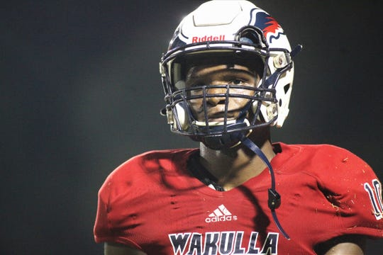 Wakulla senior Dejuan Hughes had a pick-six as the War Eagles beat Godby 35-25 on Friday, Sept. 27, 2019.